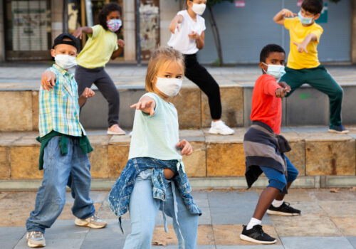 Girls,And,Boys,Hip,Hop,Dancers,In,Protective,Face,Masks